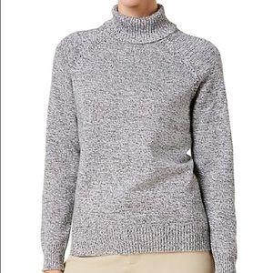 Karen Scott Grey Marbled Turtleneck Sweater